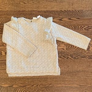 Zara Spotted Sweatshirt with Ruffle Sleeve